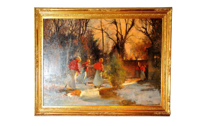 Dipinto olio su tela di Vittorio Cavalleri