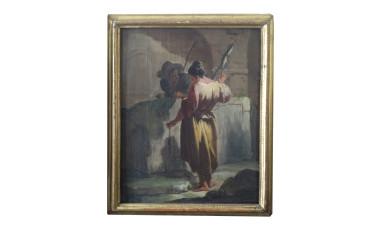 Dipinto olio su tela di Pietro Domenico Olivero