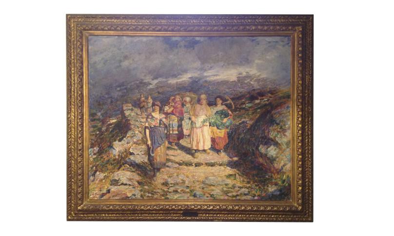 Dipinto olio su tela di Alberto Falchetti