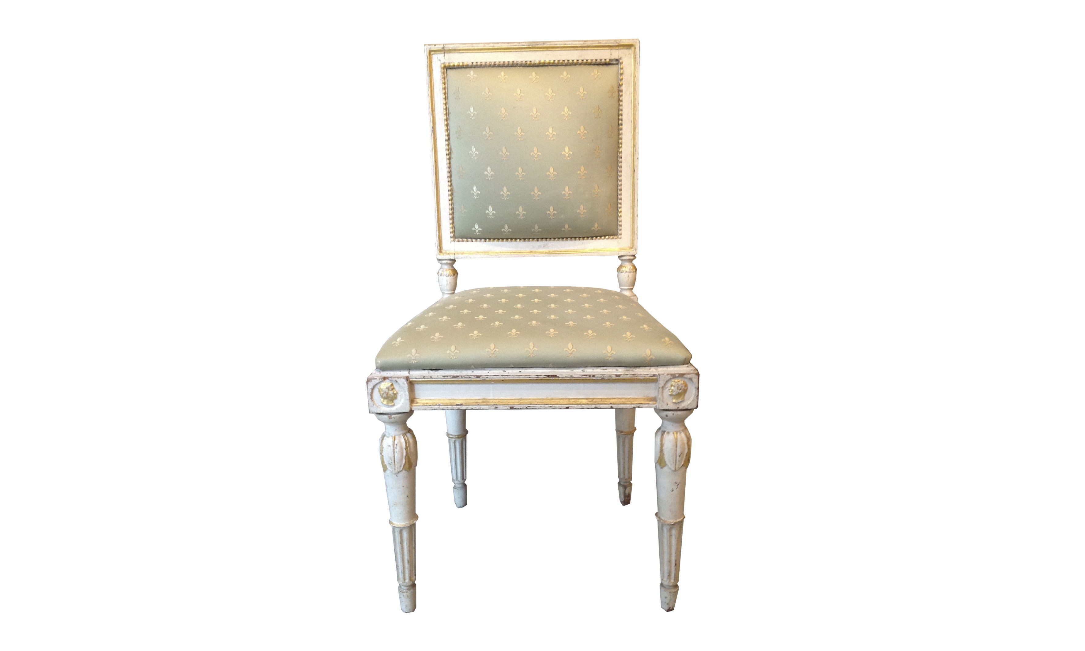 Sedie In Legno Laccate Bianco.Quattro Sedie In Legno Laccato Bianco Antiquariato Da Collezione