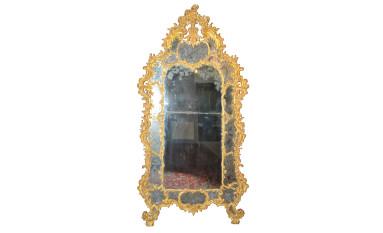 Eccezionale specchiera da palazzo in legno