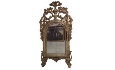 Specchiera barocca in legno dorato a mecca