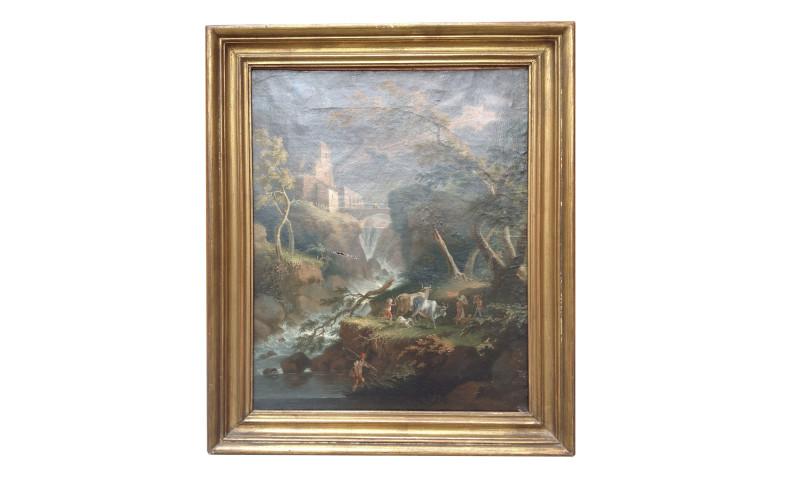 Coppia di dipinti olio su tela di Angelo Cignaroli