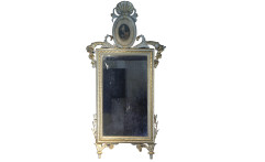Specchiera neoclassica in legno laccato e dorato